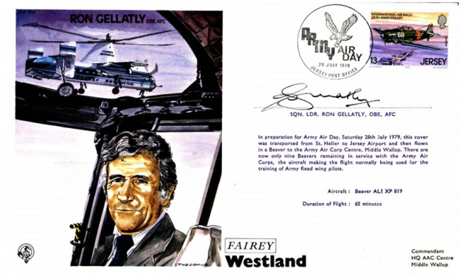 Ron Gellatly the Test Pilot cover Sgd Ron Gellatly