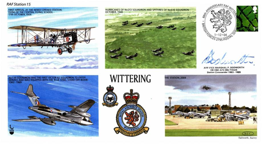 RAF Wittering cover Sgd P Dodworth Station Commander 1983 to 1985