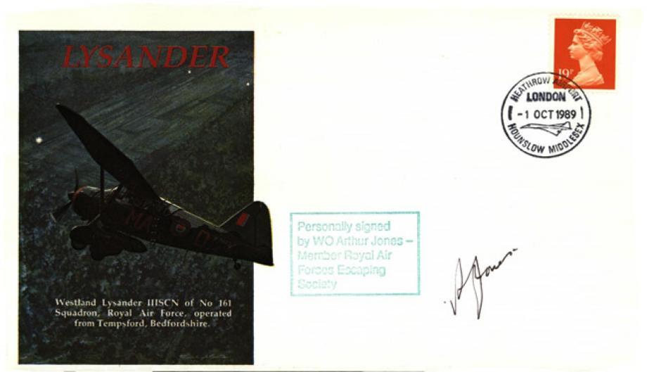 Lysander cover Sgd Arthur Jones