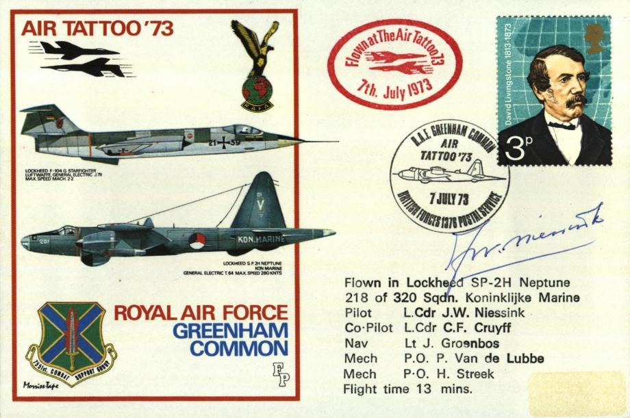 RAF Greenham Common cover Sgd pilot J W Niessink