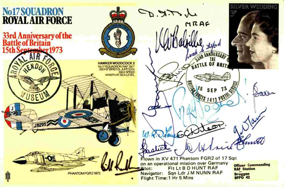 No 17 Squadron cover Signed by GC W S O Randle and MRAF Dermot Boyle and 12 others