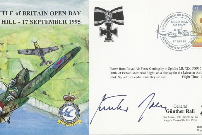 Battle of Britain cover Sgd Gunther Rall