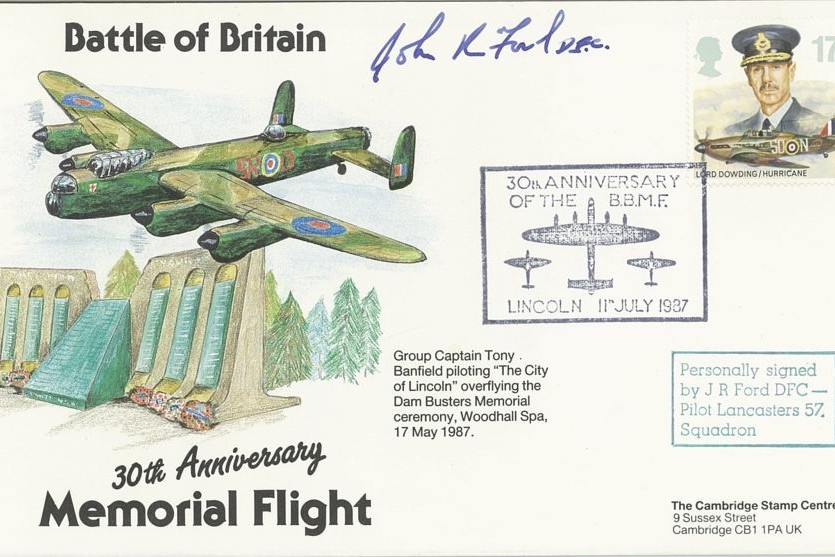 BBMF 30th Anniversary Cover Signed J R Ford 57 Squadron