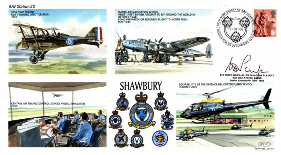 RAF Shawbury cover Sgd Sir M Pledger Station Commander 1990 to 1992
