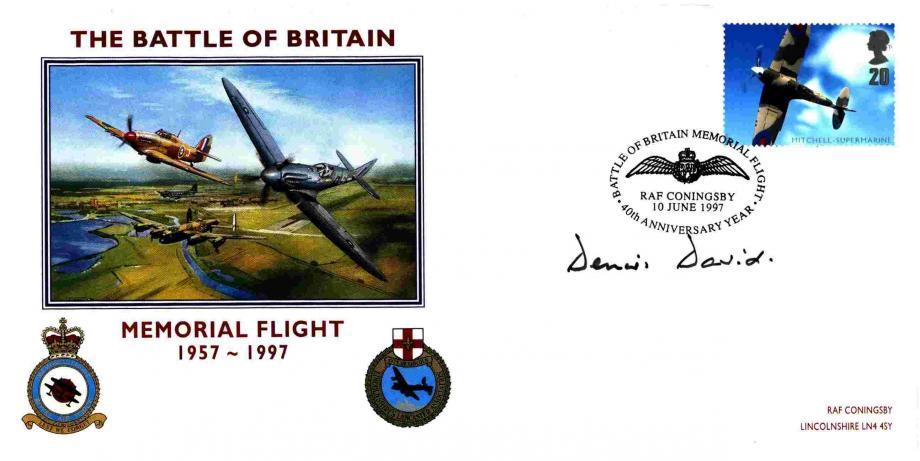 Battle of Britain cover Sgd D David a BoB Pilot 87 Sq