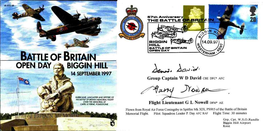 Battle of Britain Cover Signed David And Nowell