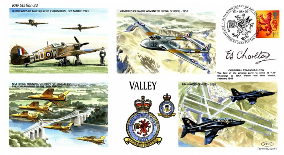 RAF Valley cover Sgd Stan Charlton