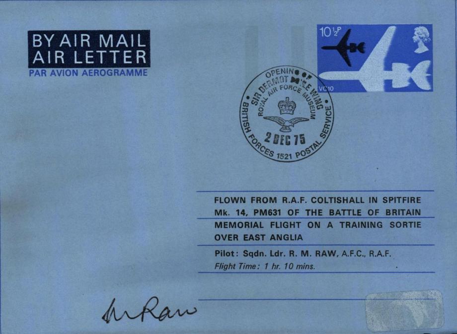 RAF Coltishall cover Sgd R M Raw
