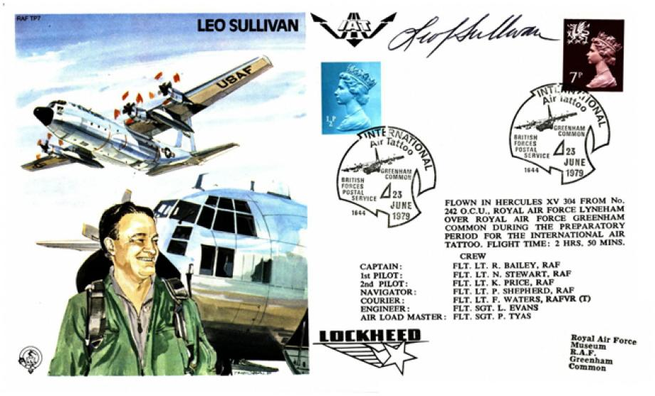 Leo Sullivan the Test Pilot cover Sgd Leo Sullivan