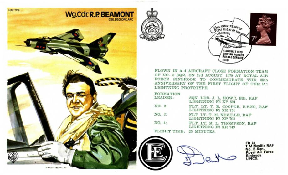 R P Beamont the Test Pilot cover Sgd T M Neville