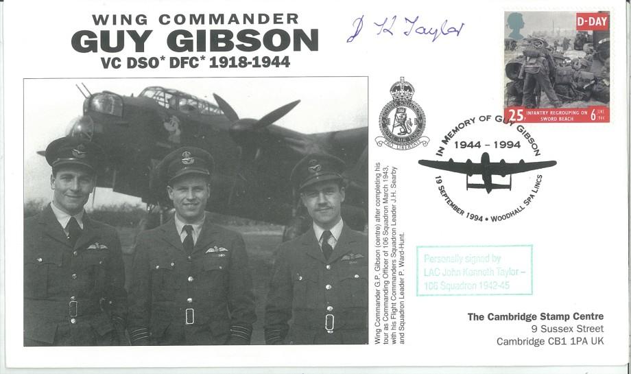 106 Squadron cover Sgd J K Taylor of 106 Sq