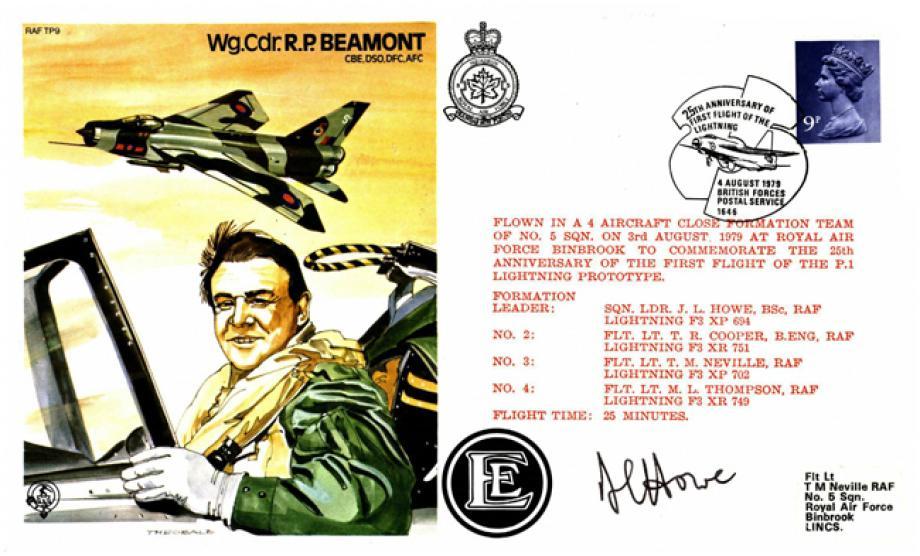 R P Beamont the Test Pilot cover Sgd L J Howe