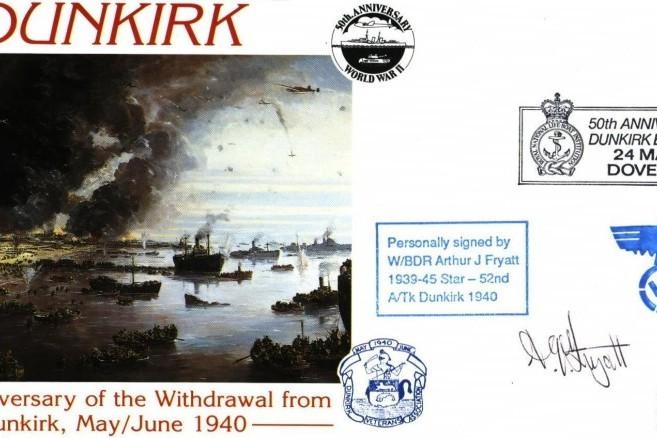 Dunkirk cover Sgd A J Fryatt