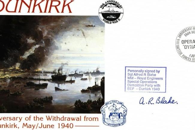 Dunkirk cover Sgd A R Blake