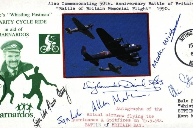 Battle Of Britain Cover Sgd 5 BBMF Pilots