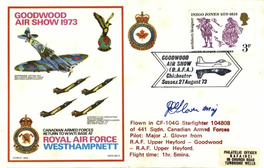 RAF Westhampnett cover Sgd pilot Major J Glover USAF