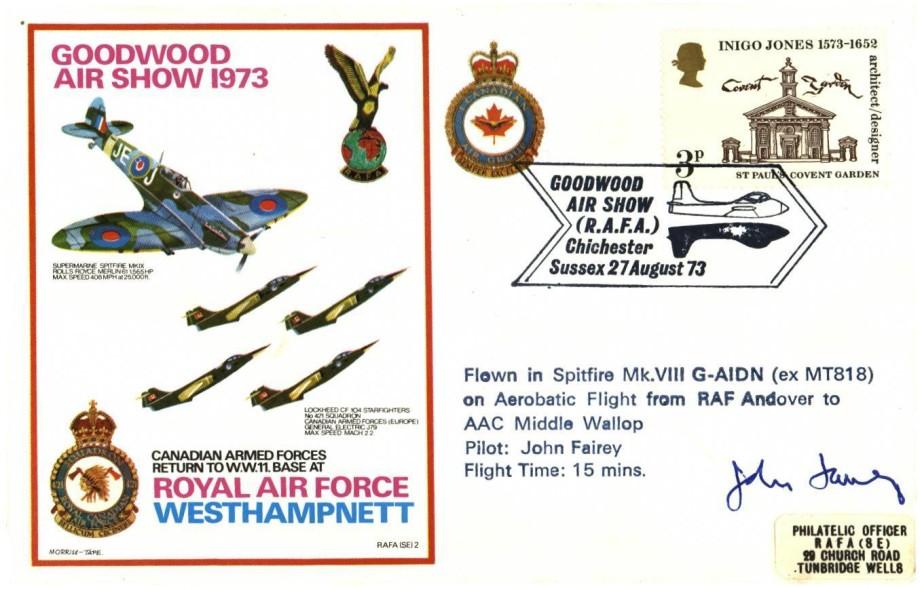 RAF Westhampnett cover Sgd pilot John Fairey