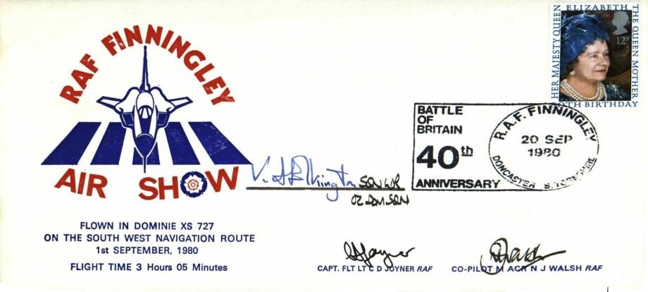 RAF Finningley cover Sgd C D Joyner N J Walsh and L V Elkington