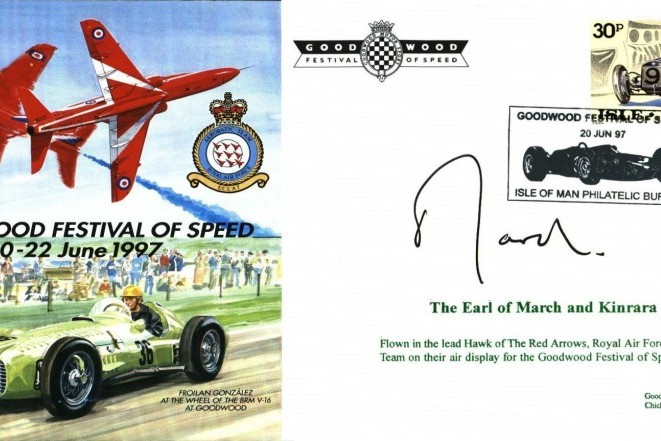 Red Arrows Goodwood 1997 cover Sgd Earl of March