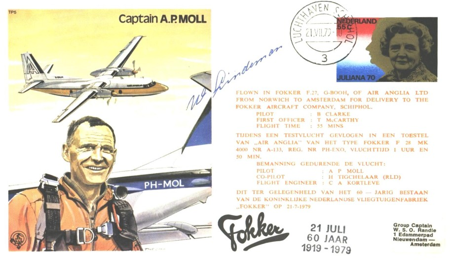 Captain A.P Moll the test Pilot cover Unknown signature