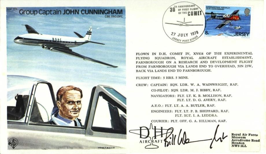 John Cunningham the Test Pilot cover Sgd W A Wainwright