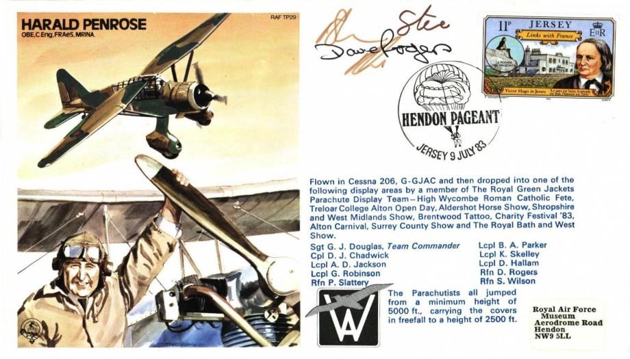 Harald Penrose the Test Pilot cover Sgd 3 parachutists