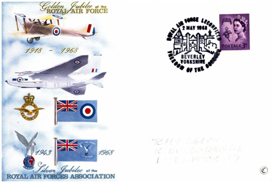 RAF Leconsfield postmark cover