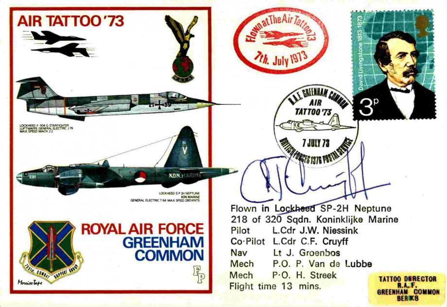 RAF Greenham Common cover Sgd C F Cruyff