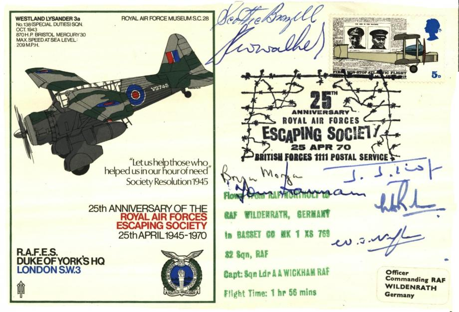 Royal Air Forces Escaping Society cover Sgd by 7