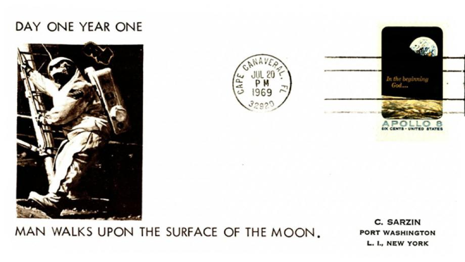 Man Walks on the Surface of the Moon cover 20th July 1969