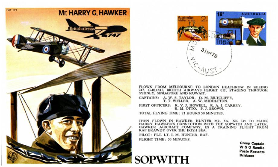 Harry Hawker Test Pilot cover