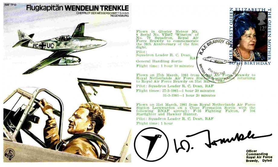 Flugkapitan Wendelin Trenkle the Test Pilot cover Sgd Flugkapitan Wendelin Trenkle