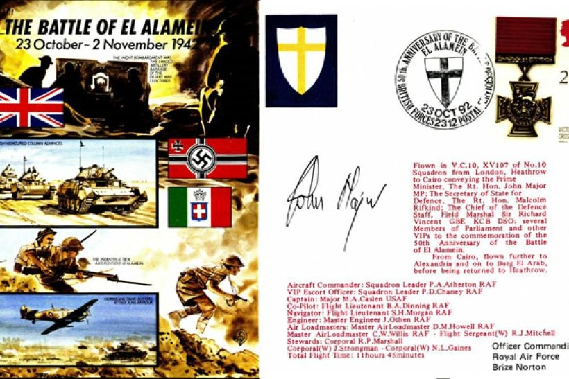 Battle Of El Alamein Cover Signed John Major