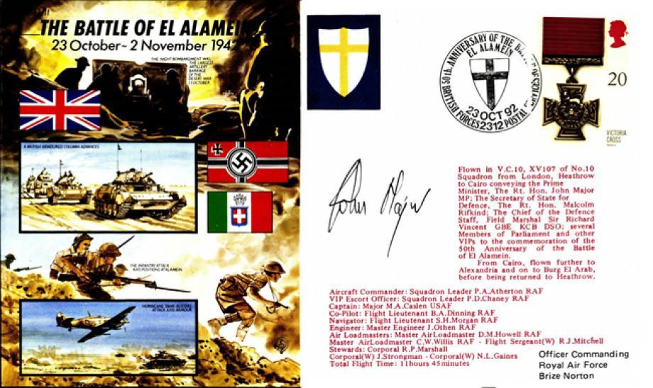Battle Of El Alamein Cover Signed John Major
