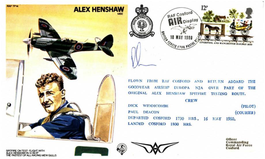 Alex Henshaw the Test Pilot cover Sgd courier