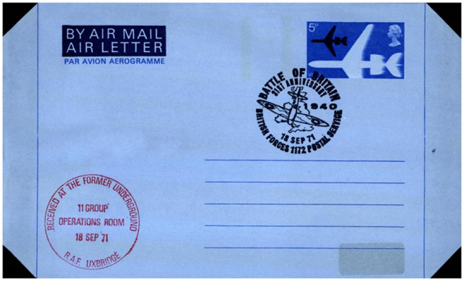 RAF Uxbridge Air Letter BFPO 1172 postmark