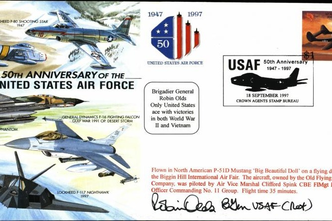 50th Anniversary of USAF cover Sgd Robin Olds
