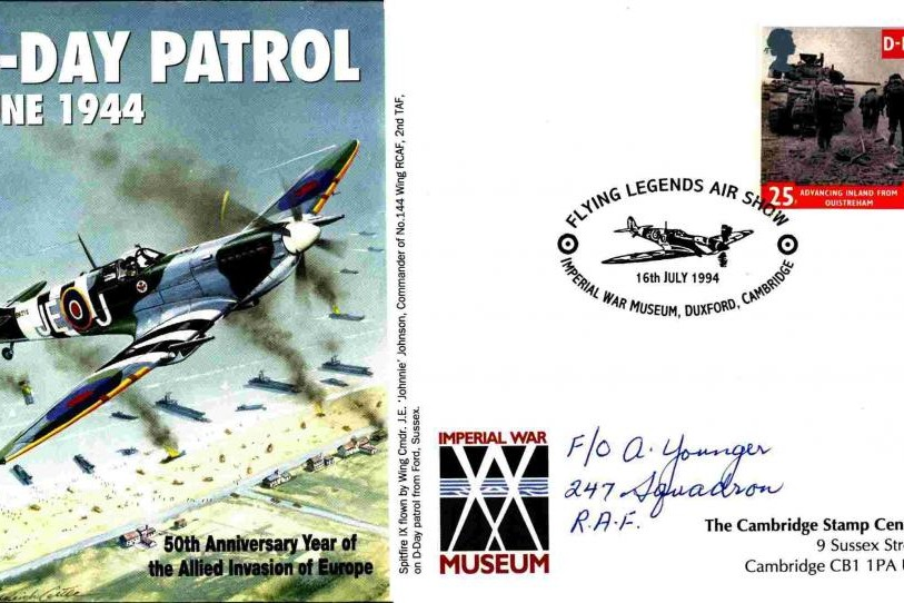 D Day cover Sgd A Younger of 247 Sq