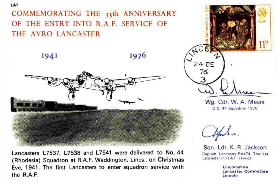 Avro Lancaster Cover Crew Signed