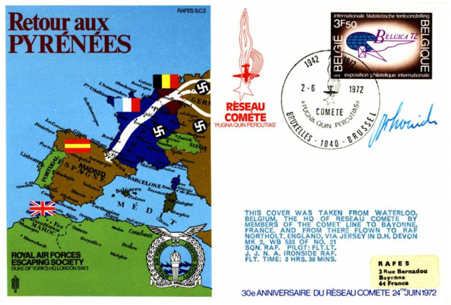 Retour aux Pyrenees cover Sgd J N A Ironside