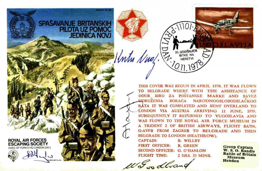 Yugoslavia - Spasavanje Britanskih Pilota Uz Pomoc Jedinica Novj Sgd by 4