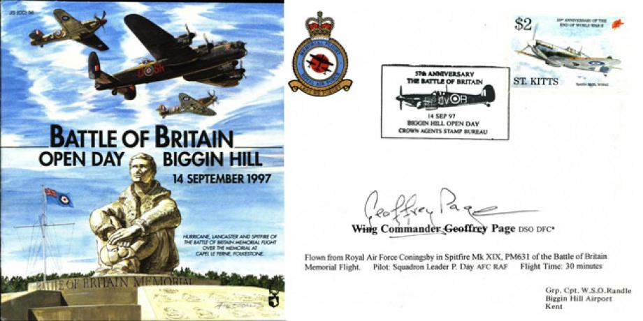 Battle of Britain Cover Signed G Page