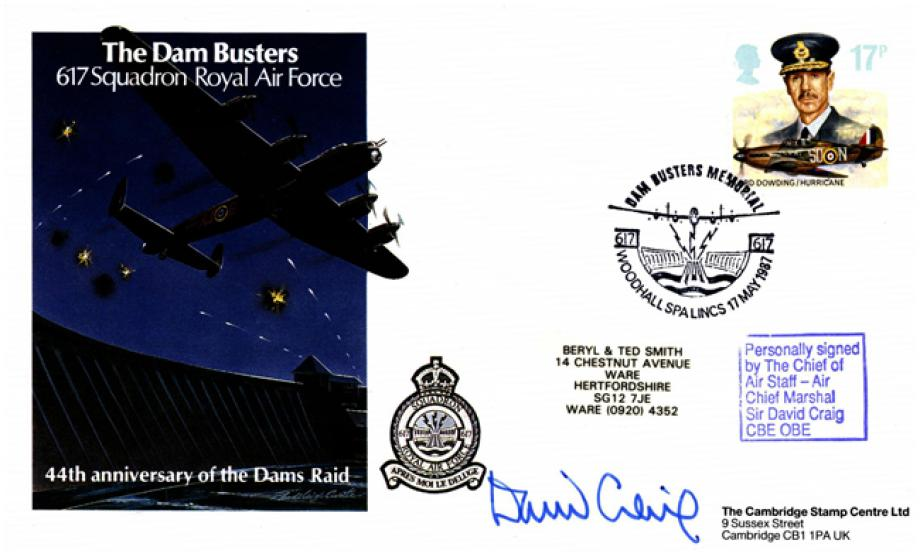 Dambusters Cover Signed ACM Sir David Craig