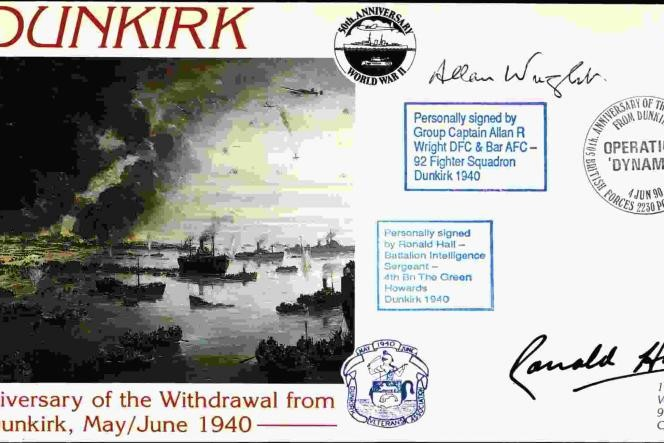Dunkirk cover Sgd BoB pilot A R Wright and R Hall