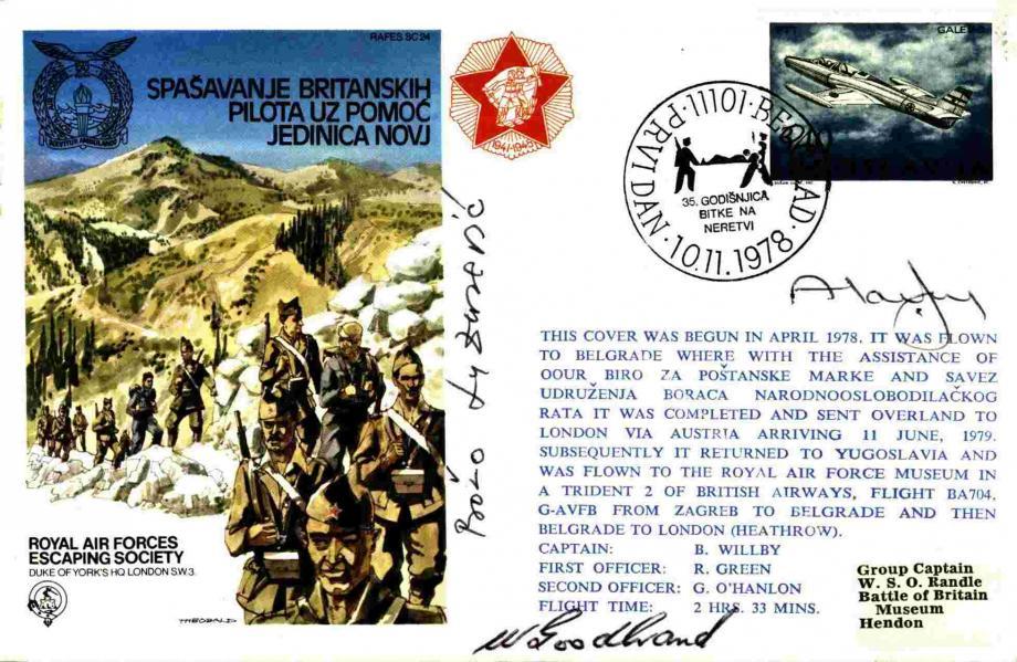 Yugoslavia - Spasavanje Britanskih Pilota Uz Pomoc Jedinica Novj Sgd by 3