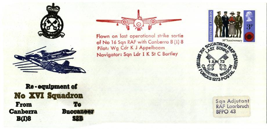 Re-equipment of No XV1 Squadron cover