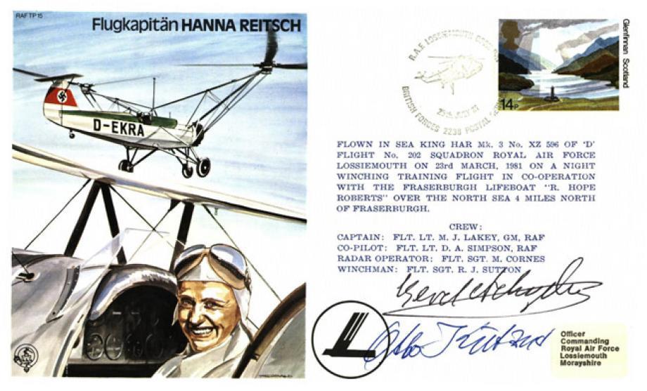 Flugkapitan Hanna Reitsch the Test Pilot cover Sgd Gerd Achgelis and O Kutzner