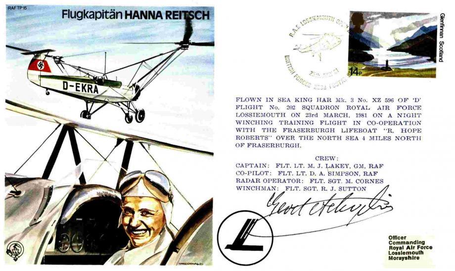 Flugkapitan Hanna Reitsch the Test Pilot cover Sgd Gerd Achgelis