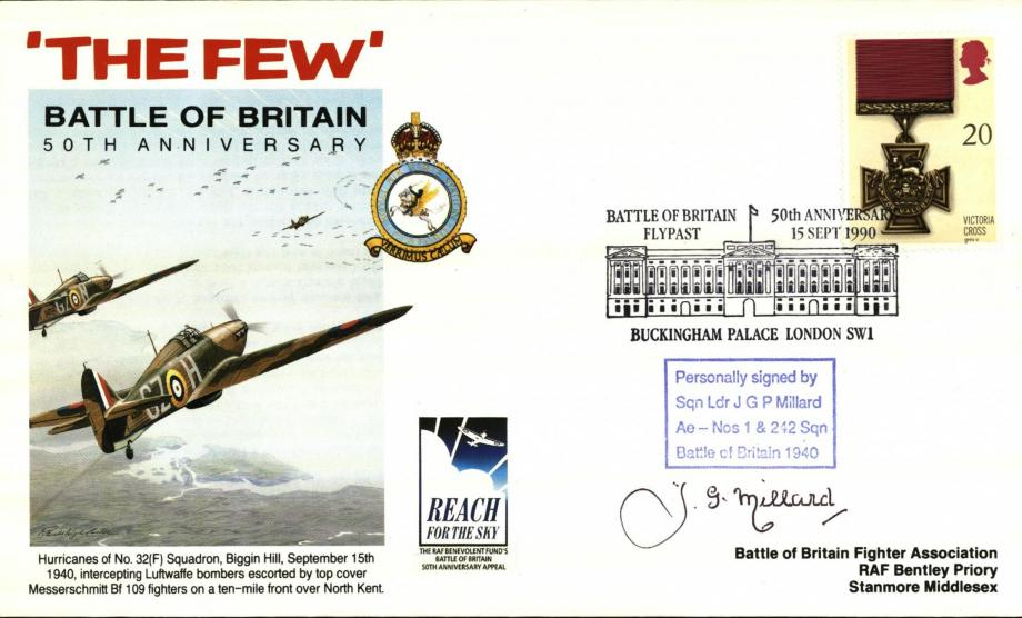 Battle of Britain 50th Anniversary Sgd J G P Millard a BoB Pilot