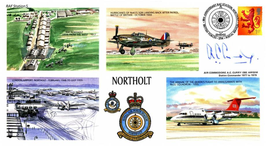 RAF Northolt cover Sgd A C Curry Station Commander 1977 to 1979